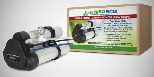 Καθαρό και αγνό νερό με φίλτρο αντίστροφης όσμωσης Growmax Water